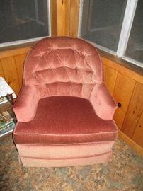 Peach chair