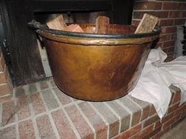 vintage brass candy making cauldron
