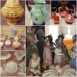 Amazing Array of Quality Fenton, Crystal, Lladro's, and more!