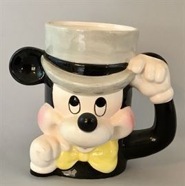 Vintage, c. 1950's Mickey Mouse Mug