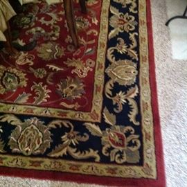 8 X 10 Kingsley House Rug.  Red and Black