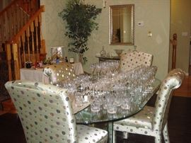 over 120 Pieces of Waterford Crystal {Carina } Stemware Also Rogaska Crystal   Baccarat    Orrefors