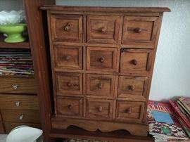 Large selection of antique and vintage small chests