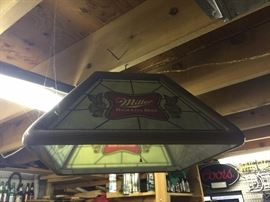 Vintage beer lights, signs and collectibles