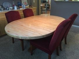 Gorgeous butcher block top dining table and chairs