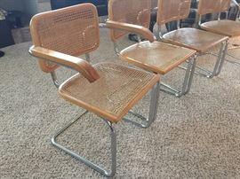 RARE! Cesca Breuer Knoll Italy chrome chairs - marked