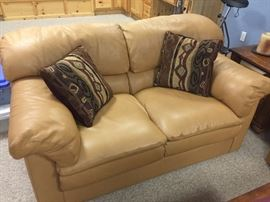 Stunning top grain leather sofa and love seat