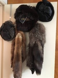 Mink and Fox stoles