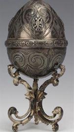 Russian Silver Egg