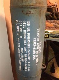 1960's MK15 Mod 4 Military Naval Practice Bomb