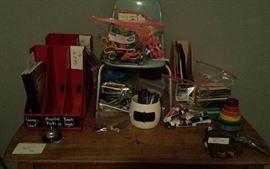 school supplies galore! vintage toys
