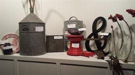 key vintage items... scale, igloo cooler, etc.