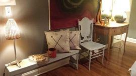 large painting... vintage furniture