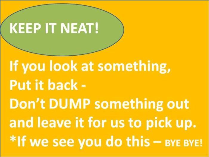 Keep it neat