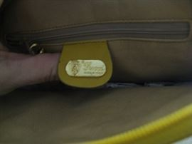 Gucci logo inside purse