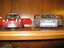 Mini Cooper and Vw metal cars