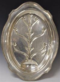"""Lot 3000: Sterling Silver Platter, 22"""" View full catalog at www.slawinski.com"""