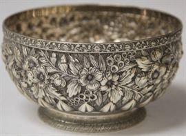 "Lot 3008: Tiffany & Co Sterling Silver Presentation Bowl, 5 1/4"" diameter. View full catalog at www.slawinski.com"