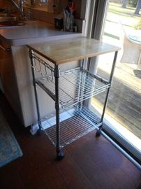 kitchen chrome cart