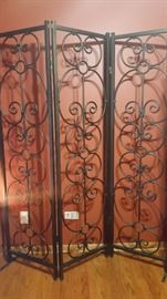 Bombay room divider - metal - dark brown