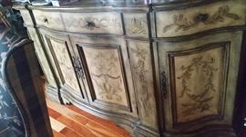Beautiful handpainted Stratford Buffet by Hook.