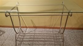 Sofa table - glass top