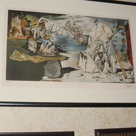 "Salvador Dali ""Apotheosis of Homer"" Facsimile Signed Art Lithograph"
