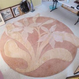 Area rug 9' round