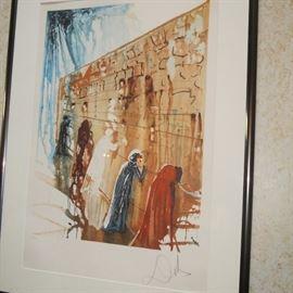 "Salvador Dali ""Wailing wall"" Facsimile Signed Art Lithograph"