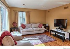 Microfiber Couch / Sofa ~ 90'' L x 39'' D x 29 1/2'' H, seat height 19''.  Microfiber Chair ~ 39'' L x 40'' D x 35'' H, seat height 19''.  Microfiber Ottoman ~ 23'' L x 33 1/2'' W x 18'' H