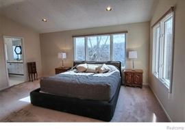 King Size Bed Surround Custom made by DESIGN CENTER, includes custom comforter & 3 pillows