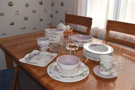 pfaltzgraff dish set of 16 with glasses and lots of extras