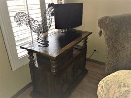 small side board and television