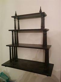 Antique wood hanging shelf