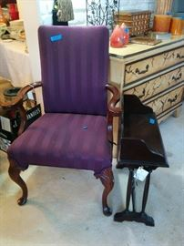 Arm chair(two of these) and book table