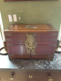decorative wood lock box