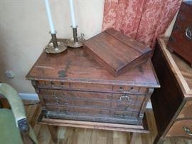 Display of vintage boxes