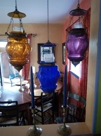 Multi color lanterns