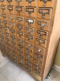 Library Card Catalogue from Winter Park with - dedication Plaque