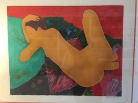 Exotic artist signed print in wonderful frame!