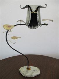 Vintage Higgins metal owl sculpture