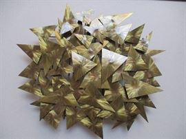 "Mid Century Modern metal art piece by Higgins.             17 1/2"" x 15"""