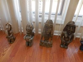Onyx Hand Carved Tribal Figures
