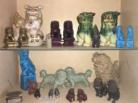 Collection of Asian Foo dogs