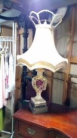 Vintage lamp with original shade