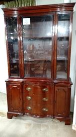 Basement china cabinet. This is a smaller version of this style set.