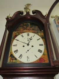 John Hood Antique Tall Case (Grandfather) clock dated 1840-1888~working