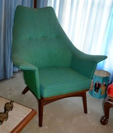 Style of Adrian Pearsall wingback chair