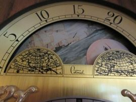 COLONIAL GRAND FATHER CLOCK