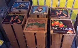 Vintage fruit crates